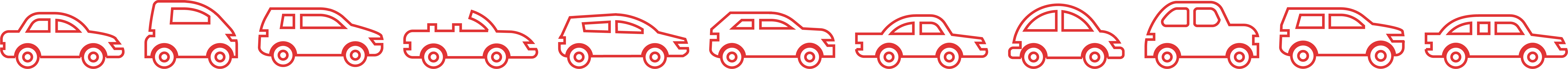 cars icons red